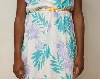 Vintage Floral Dress,Vintage dress