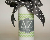WATER BOTTLE Personalized Delta Zeta Water Bottle in Emma No. 7