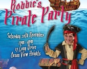 Pirate Party Printable Invitation - with Photo