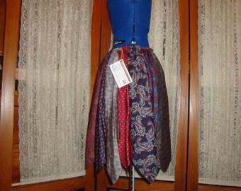 Sale !!  Upcycled Necktie Skirt   The Paisley   Medium/short