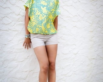 Silk top, tunic, blouse