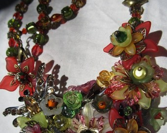 Fall Flowered Necklace