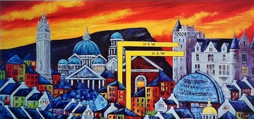 Belfast Cityscape Iconic Buildings Belfast Print Wall