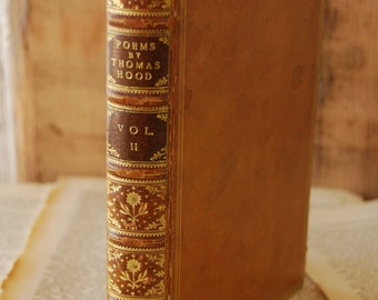 Antique Book, The Poems of Thomas Hood, Volume II