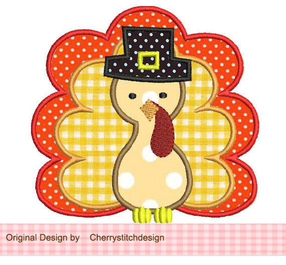 Thanksgiving turkey applique by