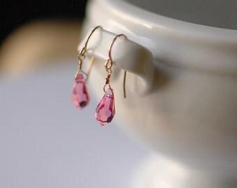 Pink Drop: Earrings