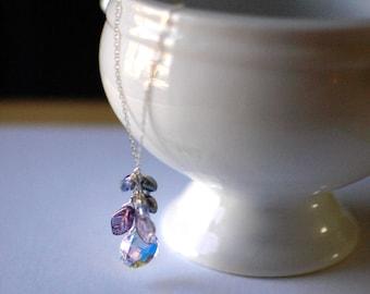 Violet Cluster : Necklace