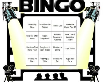 Oscar's Night Themed Bingo Set