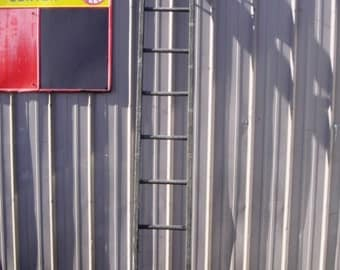 """Antique Wood Ladder with 10 Rungs - 120"""" long - Choose a Vintage Surface or Pick a Color"""