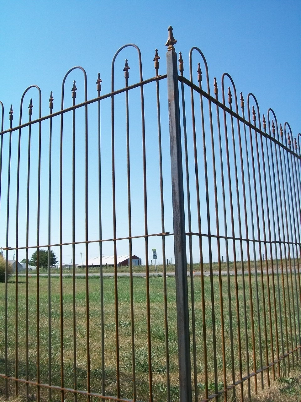 6 Tall Interlocking Solid Steel Fence Panels Wrought