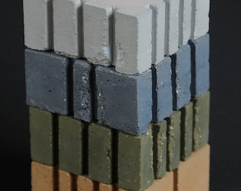Cement Candle Holders, Earth Colors, Stackable
