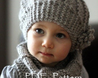 Free Knitted Beanie Patterns For Kids : Knitting pattern Etsy