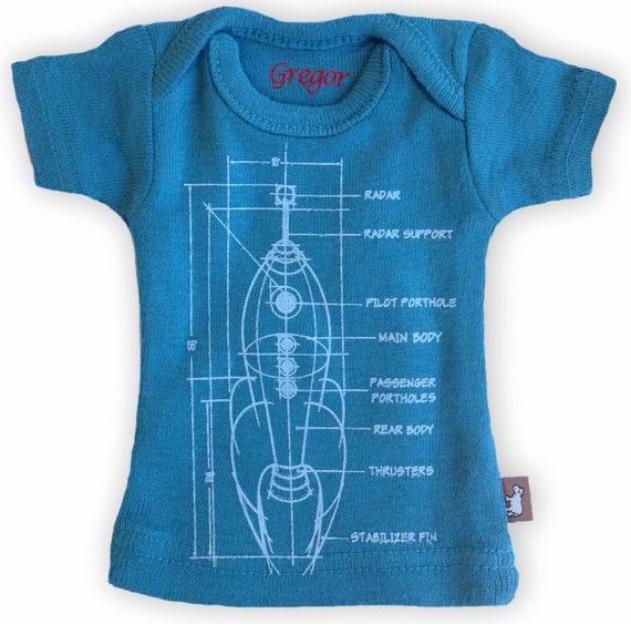 Sasha Doll & MSD sized T-Shirt - Indigo Rocket Scematic