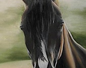 40% OFF ACEO Art Print of Original Painting Horse OA0005