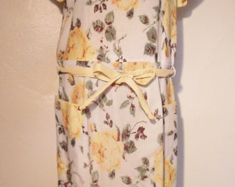 1950s yellow rose dress