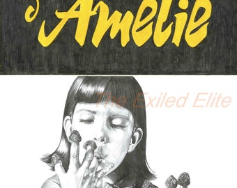 Pencil drawn alternative Amelie poster