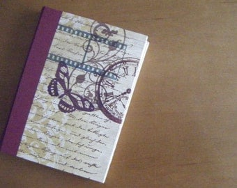 Butterfly Journal with Unlined Pages, Hand-Sewn, Hand-made