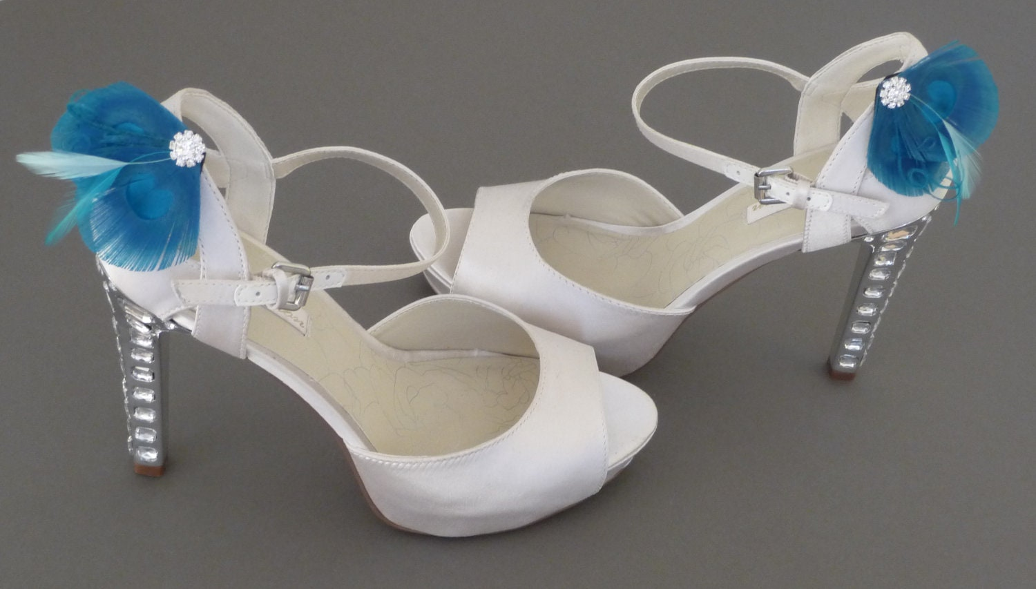 Feather Trimmed Wedding Shoes