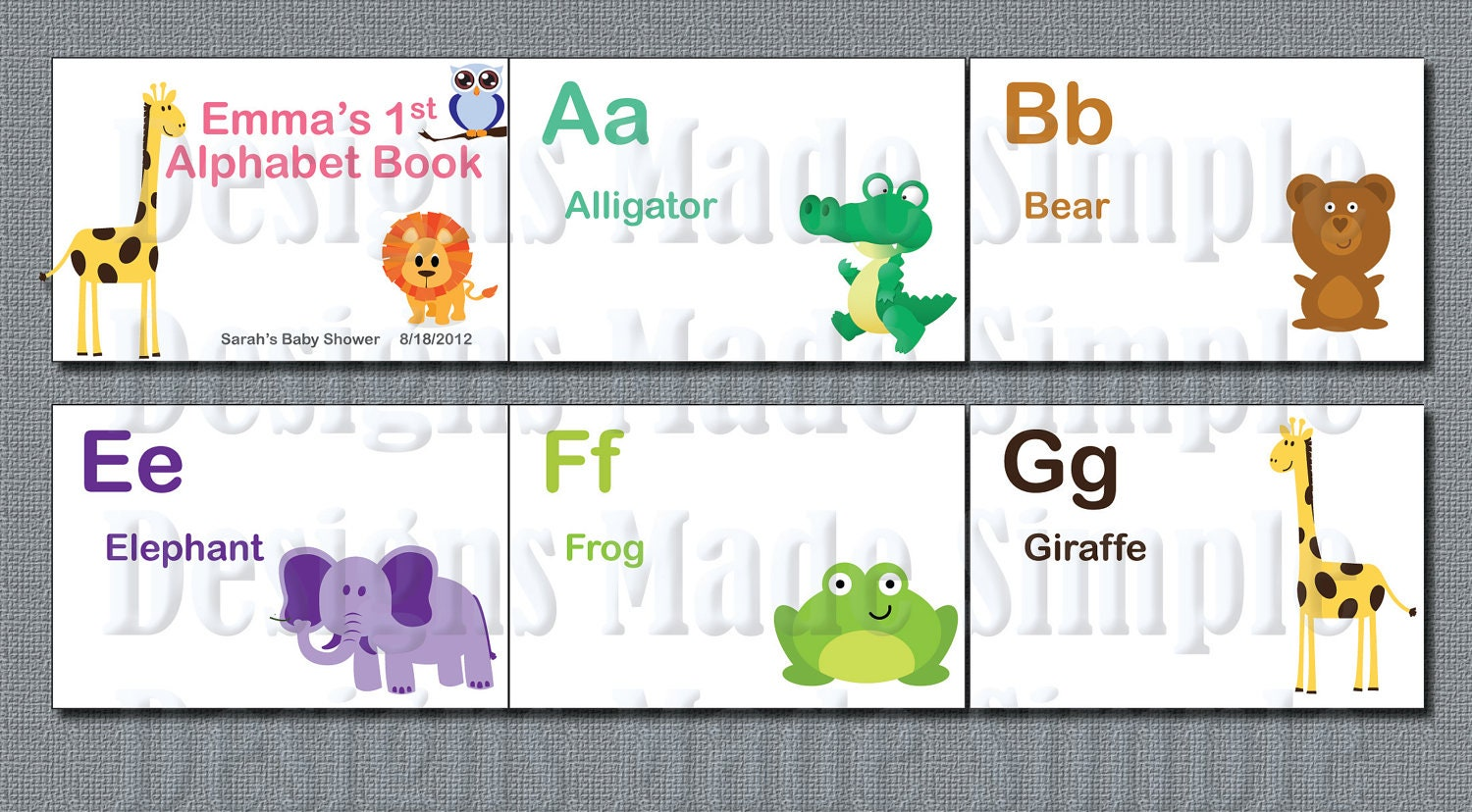 Baby's First Alphabet Book Baby Shower by DesignsMadeSimple