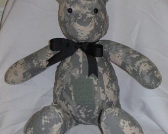 ACU Bear With Velcro Patch