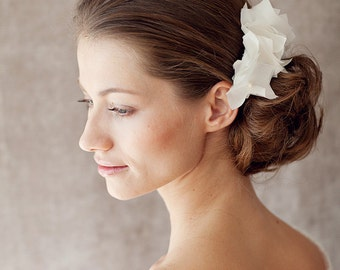 "Bridal Silk Flower, Wedding Hair Flower - ""Colette"""