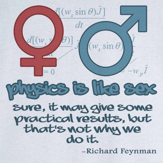 Physics is like Sex...Richard Feynman Quotation Funny Novelty T Shirt Z11851