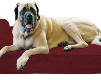 "XL Big Barker 7"" Orthopedic Dog Bed for Large Dogs  - 52 x 36 x 7 (Headrest Edition)"