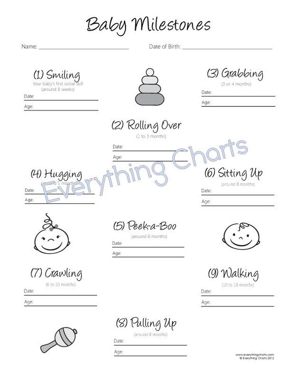 Baby Milestones Chart Pdf FilePrintable