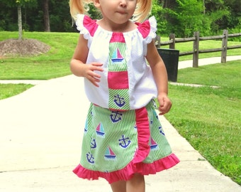 Jelly Bean Skirt PDF Pattern sizes 6-12m - 12-14y  - ruffle lace skirt