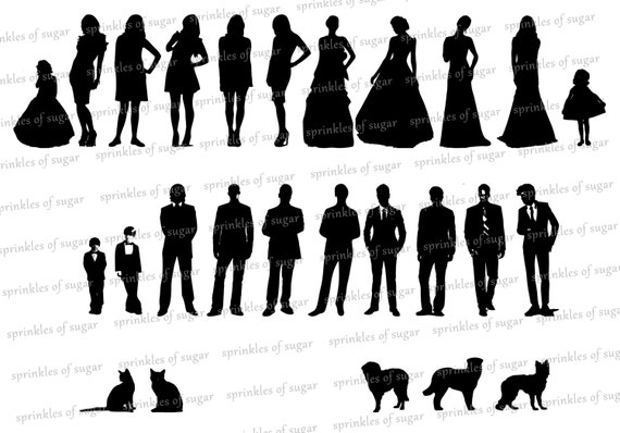 Items similar to Wedding Party Silhouettes on Etsy