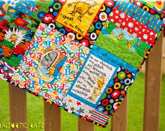 Dr.SeussThemed Baby Quilt (Lorax)