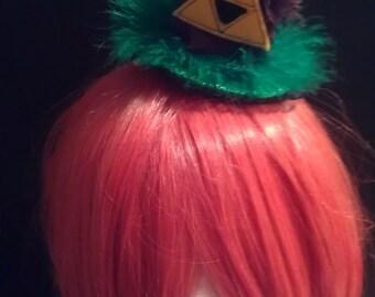 Legend of Zelda Link inspired mini top hat