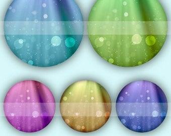 Bubbles (035) Digital Collage Sheet 4x6 bottle cap images .. Bottlecap glass tiles ..