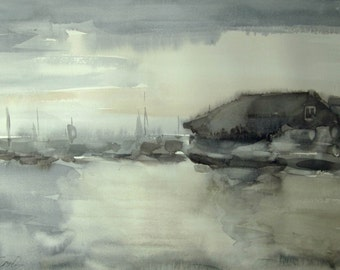 Sea mood - seascape - original watercolor
