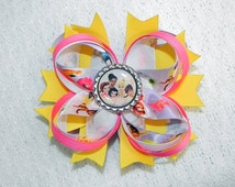 Tinker Bell And Friends Inspired Boutique Bow With Center