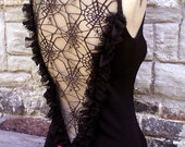 DOLEFUL ANTOINETTE TOP / your size / You Bad Girl handmade fashion / black frills spider web lace decadent emo morticia punk rock halloween