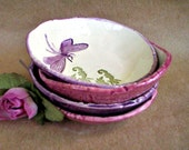 FOUR Ceramic Dragonfly Prep Bowls