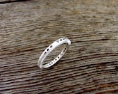 Personalized Inside Out Custom Inscription or Message Ring in Sterling Silver