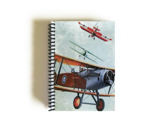 Airplanes Biggles Flies - Notebook Spiral Bound - 4x6in