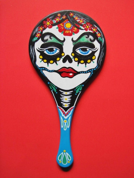 Day of the Dead Art Tattoo Hand MIRROR Mexican Folk Art