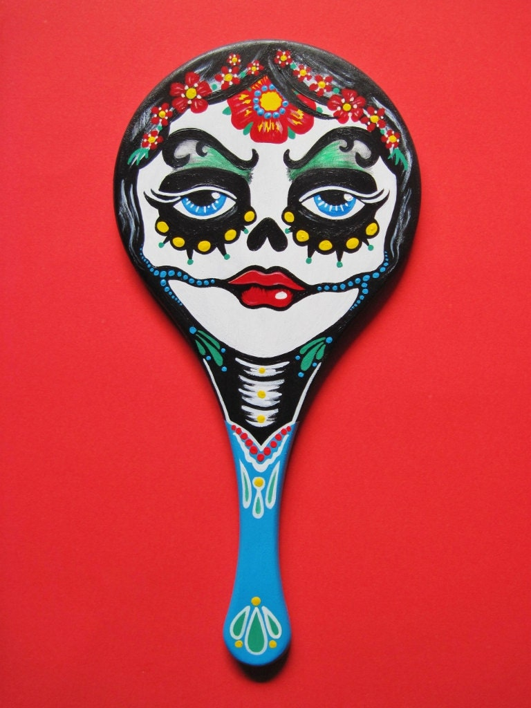 Day Of The Dead Hand Tattoo: Day Of The Dead Art Tattoo Hand MIRROR Mexican Folk Art