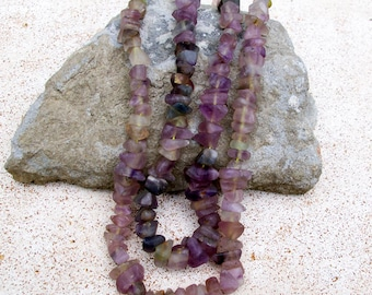Purple Fluorite Chips, Large, 5mm- Afghanistan Gemstone