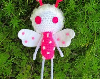 Pink Zombie Dragonfly Amigurumi