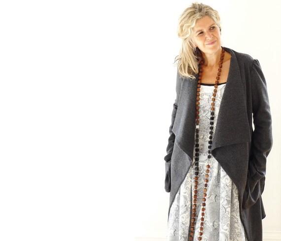 Long Grey Wool Tweed Jacket - Reserved