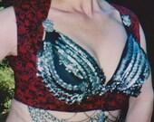 XL cotton Ghawazee VEST paisley tribal fusion belly dance SCA gypsy renaissance costume 4 colors