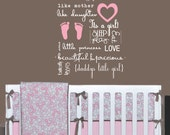 Baby Girl Subway Art Wall Decal - Vinyl Childrens Wall Decal Sticker - Quote Baby Girl Decal - CQ139