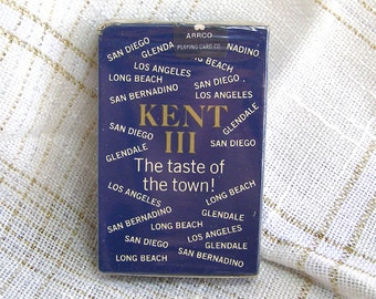 SALE/ 1960s Kent Cigarettes Playing Cards Unopened/ California Cities Edition Tobacciana