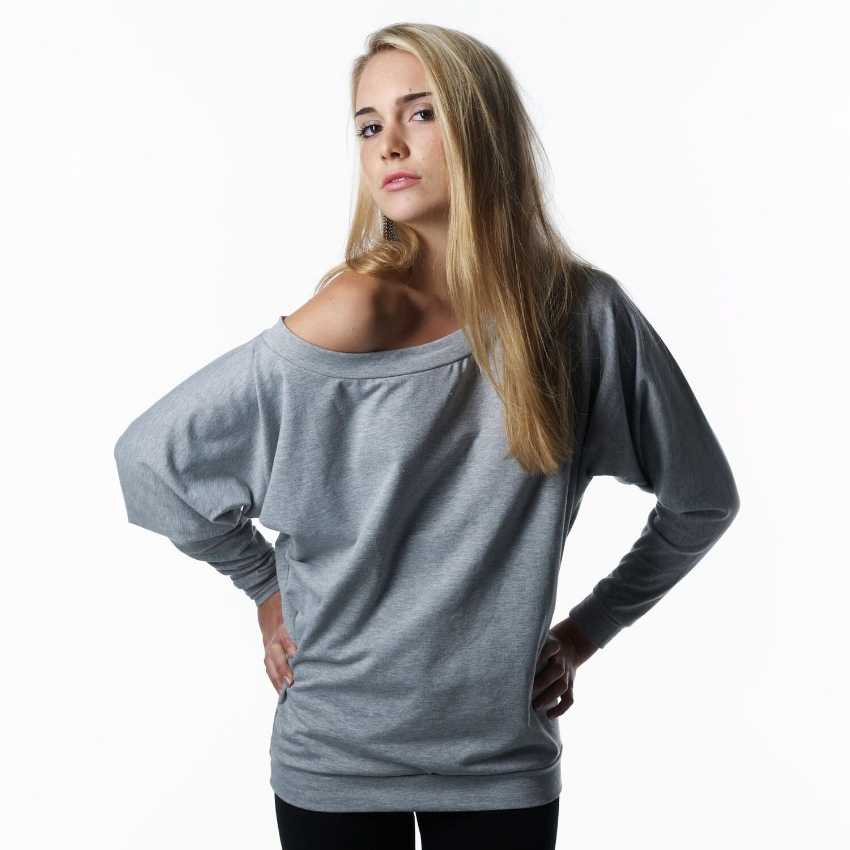 Oversized Off The Shoulder Sweatshirt