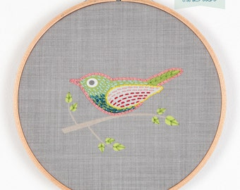 Bird Hoop Wall Art Embroidery Kit