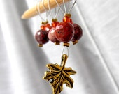 Autumn Burned Brightly - Six Snag Free Stitch Markers - Fits Up To 5.5 mm (9 US) - Limited Edition